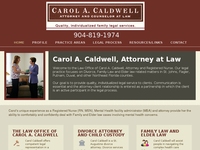 CAROL CALDWELL website screenshot