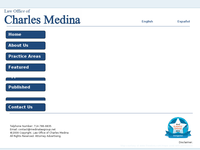 CHARLES MEDINA website screenshot