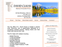 C DAVID CLAUSS website screenshot