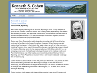 KENNETH COHEN website screenshot