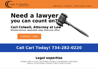 CARL COLWELL website screenshot