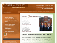 CORRIE BOULAY website screenshot