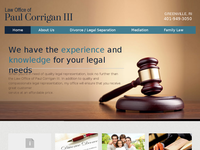 PAUL CORRIGAN III website screenshot