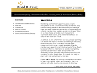 DAVID CRAIG website screenshot