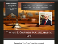 THOMAS CUSHMAN website screenshot