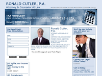 RONALD CUTLER website screenshot