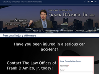 FRANK D'AMICO JR website screenshot
