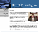 DARREL RUSTIGIAN website screenshot