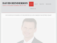 DAVID HENDERSON website screenshot