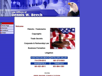 DENNIS BEECH website screenshot