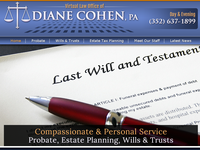 DIANE COHEN website screenshot