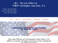 CHRISTOPHER DOTY website screenshot
