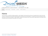 JAMES SHEEDY website screenshot