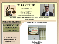 REX DUFF website screenshot