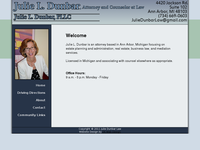 JULIE DUNBAR website screenshot