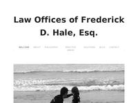 FREDERICK HALE website screenshot