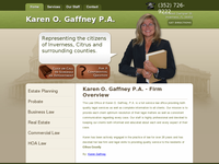 KAREN GAFFNEY website screenshot