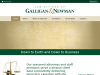 MICHAEL GALLIGAN website screenshot