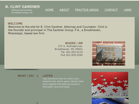 B CLINT GARDNER website screenshot