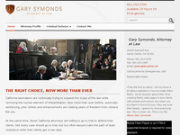 GARY SYMONDS website screenshot