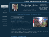 CHRISTOPHER GEIER website screenshot