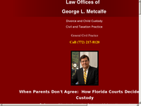 GEORGE METCALFE website screenshot