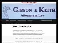 CLIFF GIBSON website screenshot
