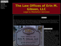 ERIN GIBSON website screenshot