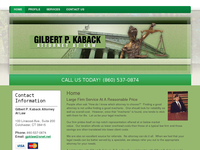GILBERT KABACK website screenshot