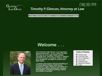 TIM GLEESON website screenshot