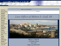 MILTON GOFF III website screenshot