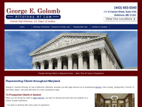 GEORGE GOLOMB website screenshot