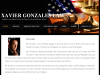 XAVIER GONZALES website screenshot
