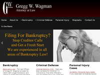 GREGG WAGMAN website screenshot