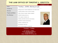 TIMOTHY GRIFFITH website screenshot
