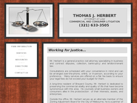 THOMAS HERBERT website screenshot