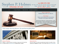 STEPHEN HOLMES website screenshot