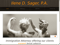 ILEAN SAGER website screenshot