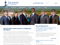 ANDREW JACKSON website screenshot