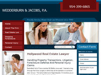 JACOBS WEDDERBURN website screenshot