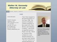 WALTER KENNEDY website screenshot