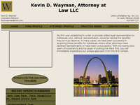 KEVIN WAYMAN website screenshot