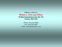 WILLIAM KIRK website screenshot