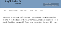 GARY LANDAU website screenshot