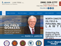 MARK LARSON website screenshot