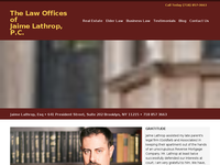 JAIME LATHROP website screenshot