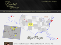 RANDALL WEINER website screenshot