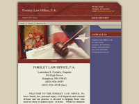 LAWRENCE FORSLEY website screenshot