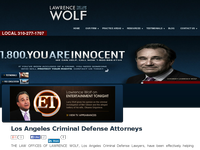 LAWRENCE WOLF website screenshot