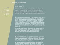 LOIS LAWRENCE website screenshot